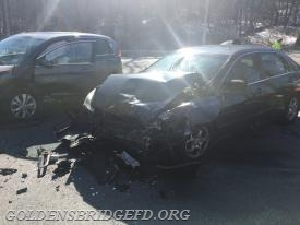 One of the cars involved in the accident.