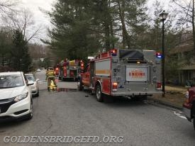 A look down the road at the scene showing Engine 139 and Engine 140.