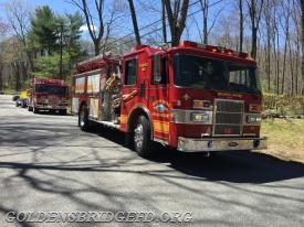 Golden's Bridge Engine 140 & Katonah Engine 116 on scene