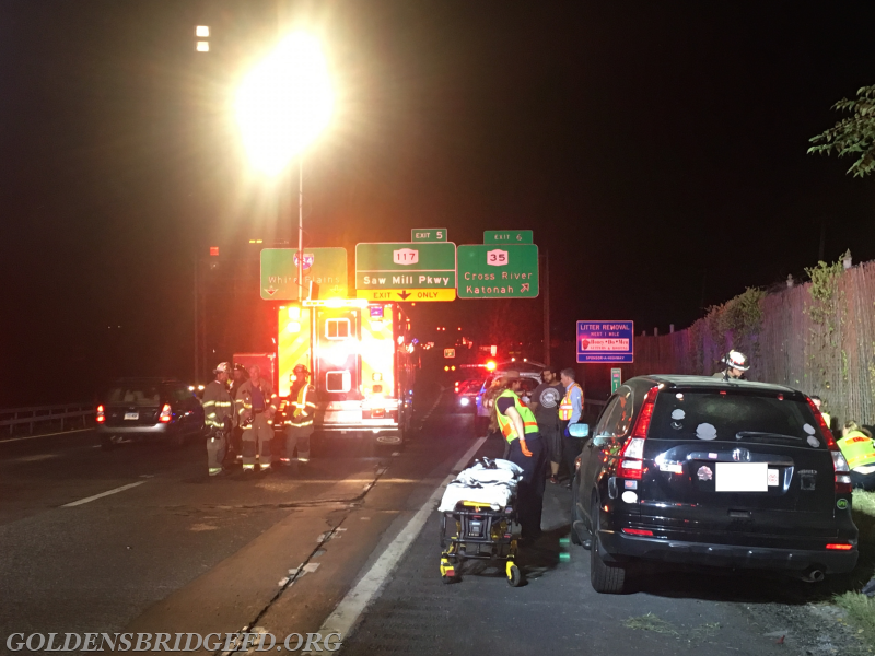A look down the accident scene towards exit 6.