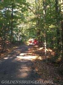 A look up the road that the fire was on, showing Somers Mini-Attack 14.