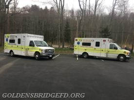 Both LVAC ambulances on site for the drill.