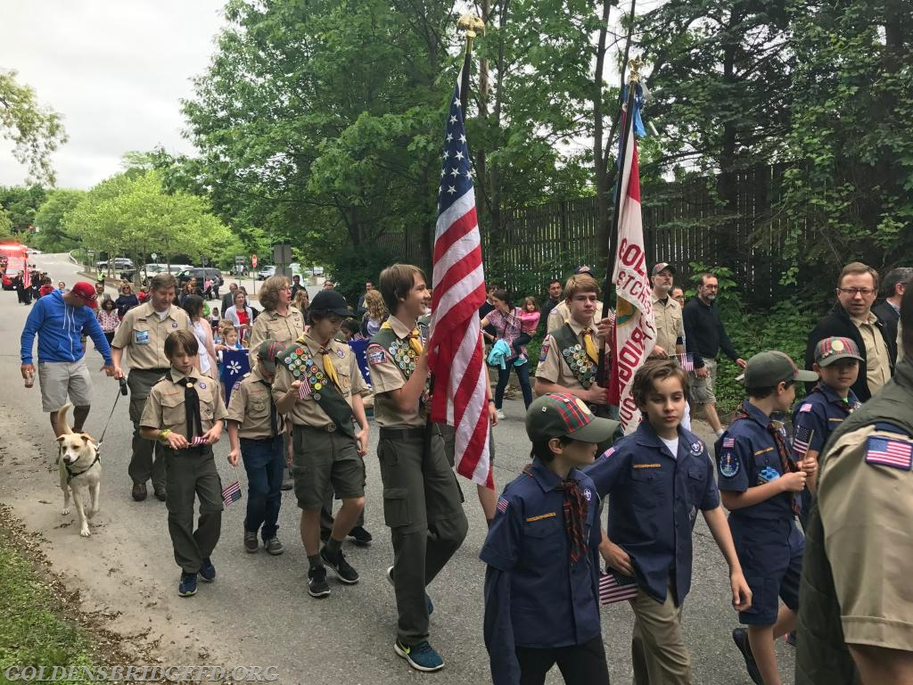 The Boy Scouts during the parade.