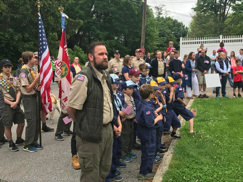 The Boy Scouts during the ceremonies