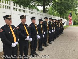 Another shot of GBFD members standing in line during the ceremonies.