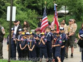 The Cub Scouts during the ceremonies