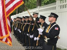 GBFD members standing in line during the ceremonies.