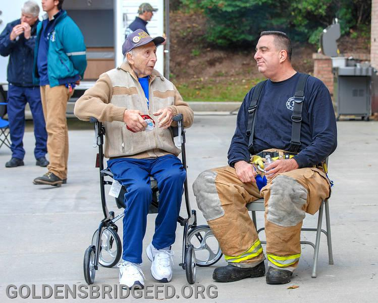 Jack with Firefighter Tommy Beneventano at our 2018 Community Day.